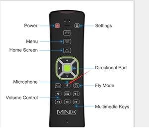Image 2 - MINIX NEO A3 arkadan aydınlatmalı sürüm kablosuz hava fare ses girişi ile QWERTY klavye altı eksenli jiroskop uzaktan MINIX akıllı tv kutusu
