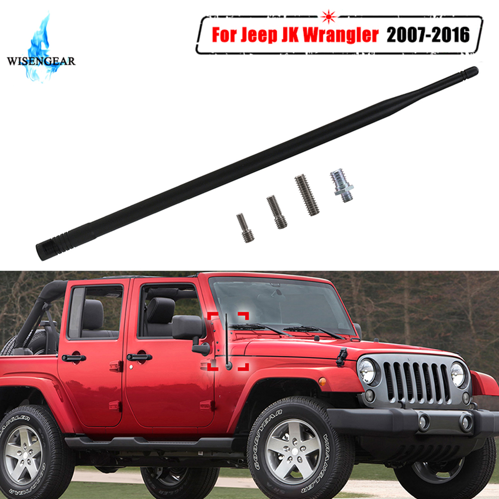"13/"" 8MM Red Metal Antenna FM AM Radio Signal For Jeep Wrangler 2007-2017"