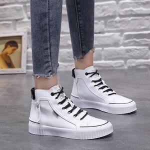 Image 4 - 2019 moda tênis para mulher respirável plataforma tênis feminino sapatos de luxo designers femininos vulcanize martin botas