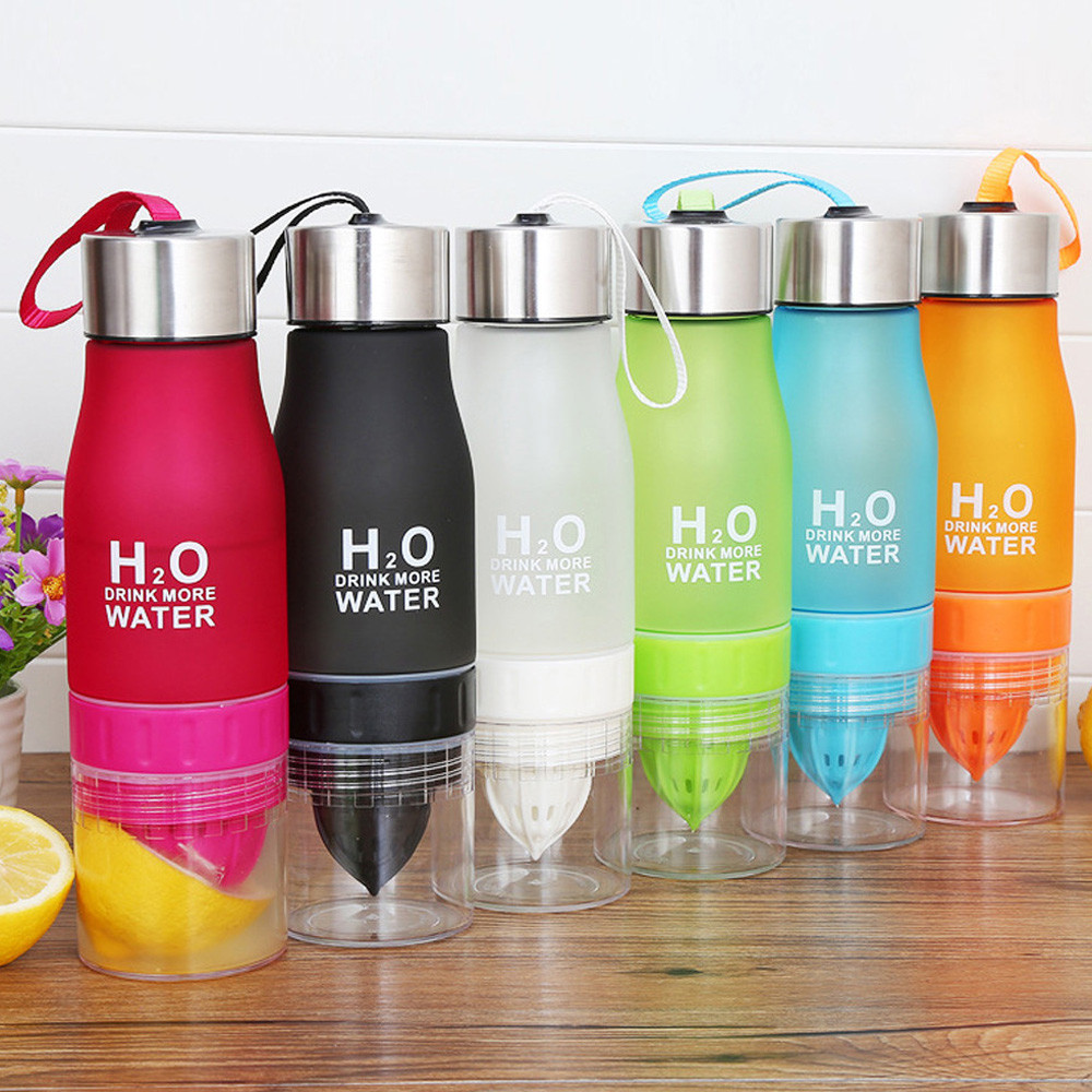 Fruit Infusion Infusing Infuser Water Bottle Hydration Sport Gym Juice 660ml