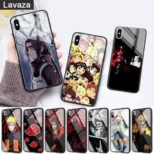 WEBBEDEPP Akatsuki logo Naruto Glass Phone Case for Apple iPhone 11 Pro X XS Max 6 6S 7 8 Plus 5 5S SE