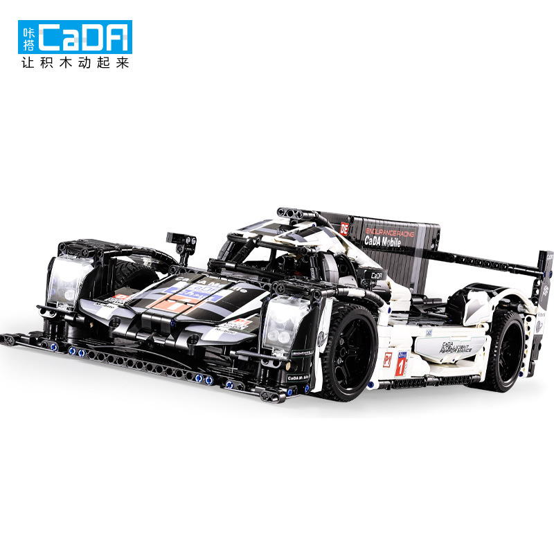 1586Pcs Cada Technic Blocks C61016 Static Version Porschee 919 Hybrid Sports Car Toys For Children # Without Power And Motor