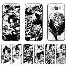 HTXian One piece Anime DIY Fall abdeckung Shell Für Samsung J7 J8 J6 J4Plus J5 J7Prime J2 J5Prime M10 M20 m30(China)