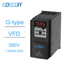 EDECOA VFD inverter 380V 3 Phases 1.5KW 2.2KW Variable Frequency Drive for CNC Spindle Motor Speed Control frequency converter