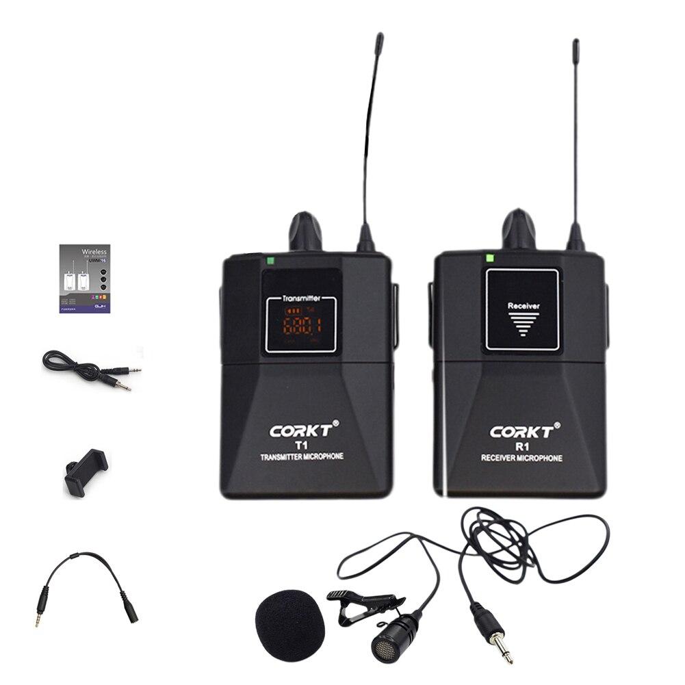 Récepteur d'enregistrement vidéo transmetteur professionnel Vlog Portable Mini DSLR caméra revers micro système de Microphone sans fil Youtube