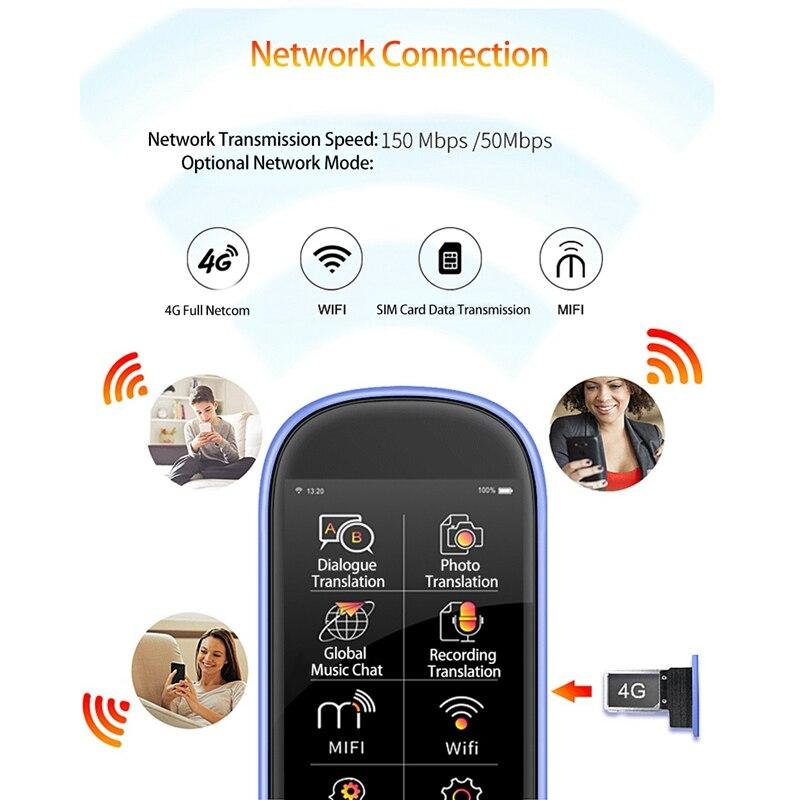 AAAE Top K1 Pro Photo Translation AI Smart Voice 75 языков в режиме реального времени лицом к лицу wifi 2,4 дюймов TFT 12MP Многофункциональный трансмиссия - 6