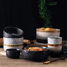 Japanese Style Ceramical Tableware 4.5 Inches 6 Inches,Porcelain Kitchen Soup Bowl Set,Ramen Dinnerware,Fruit, Salad,Rice Bowls