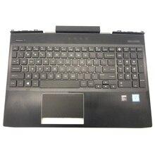 цена на Original For HP Omen 15-DC Series Laptop Palmrest Upper Case US White Red Backlit Keyboard Touchpad L30195-001 L30194-001