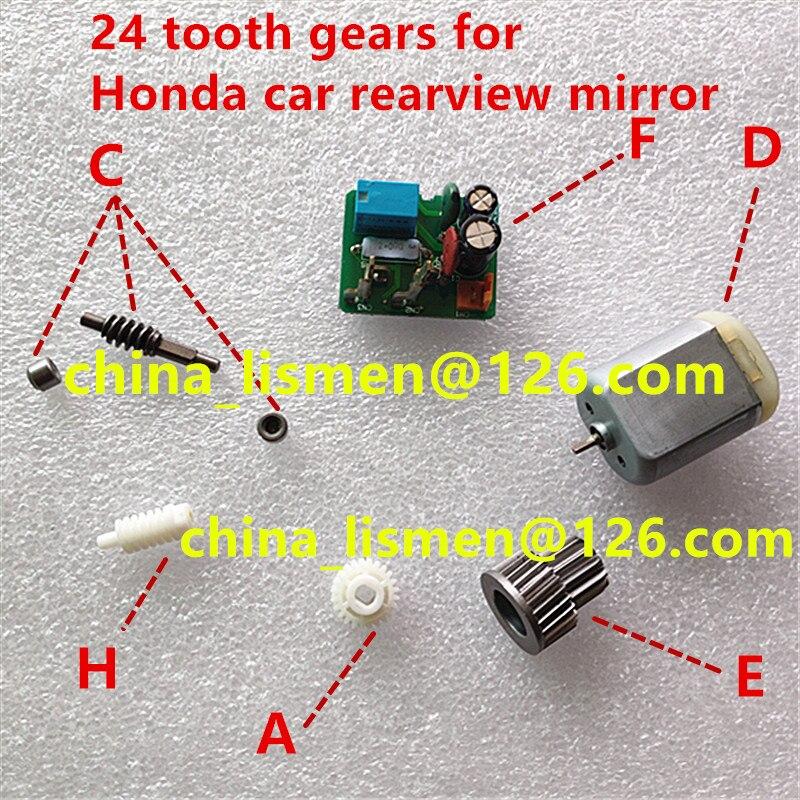 Складное боковое зеркало для двери с 24 зубцами, складное моторное зеркало с пластиковым приводом для accord civic fit CRV spirior, зеркало заднего вида в...