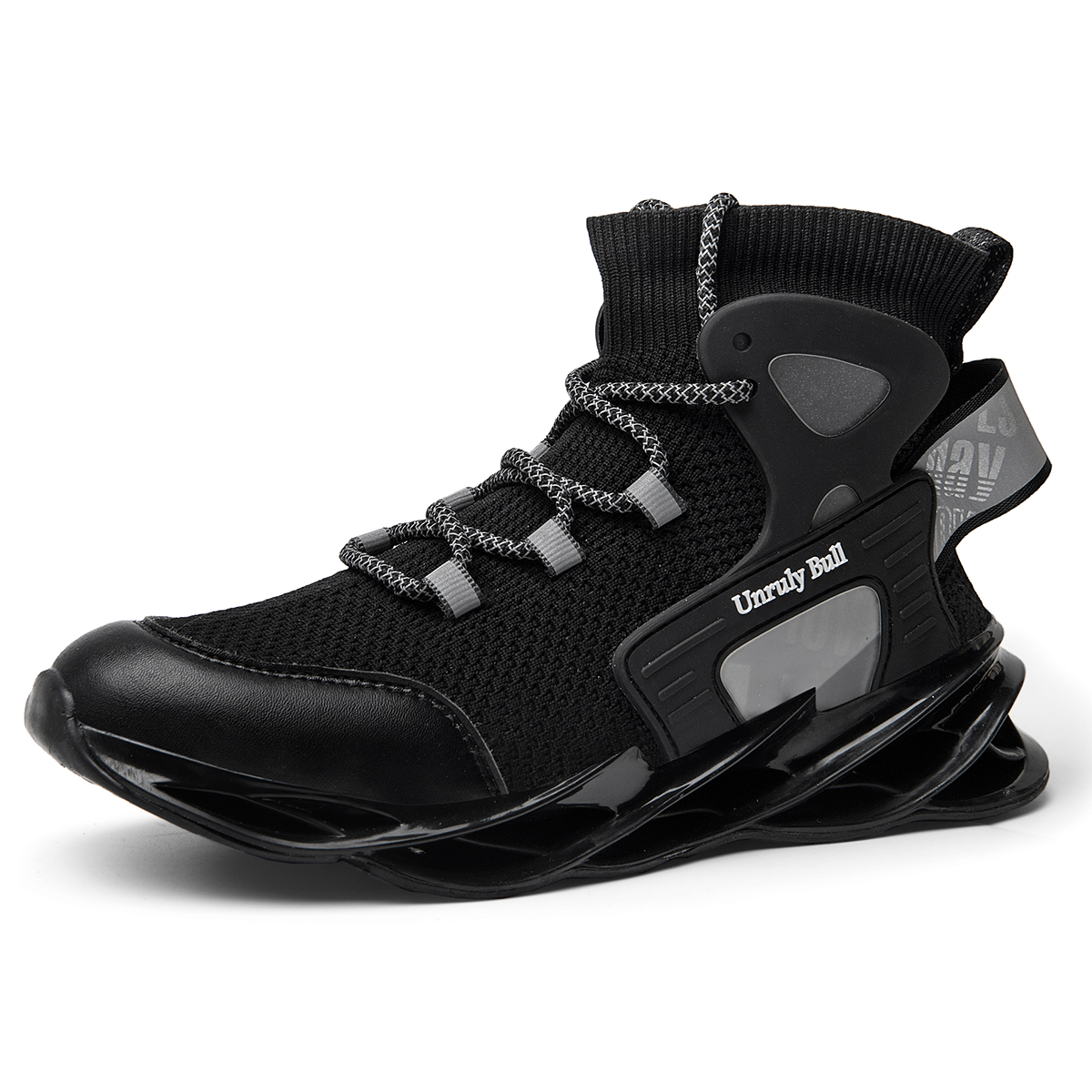 Blade Running Shoes for Men Breathable Mesh Socks Sneakers Antiskid Damping Outsole Athletic Sport Shoes Training