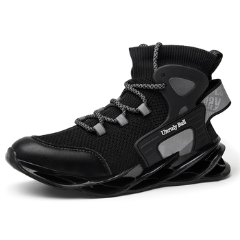 Blade Running Shoes for Men Breathable Mesh Socks Sneakers Antiskid Damping Outsole Athletic Sport Shoes
