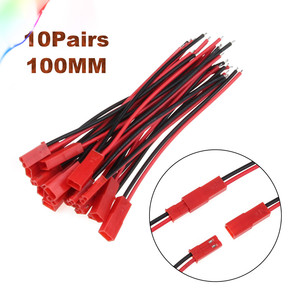 2/10Pairs 100/150mm 2 Pin Connector JST Plug Cable Male/Female For RC BEC Battery Helicopter DIY FPV Drone Quadcopter