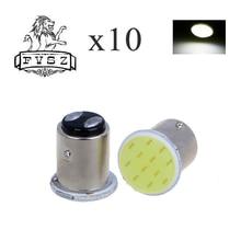10pcs P21W 1157 Bay15d 1156 BA15S P21W LED היגוי אות הנורה COB רכב פנים אור עצור הפוך אחורי בלם אור סופר מבריק