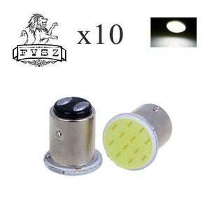 Image 1 - 10pcs P21W 1157 Bay15d 1156 BA15S P21W segnale di sterzo LED bulb COB car interior luce di arresto reverse freno posteriore luce super gloss