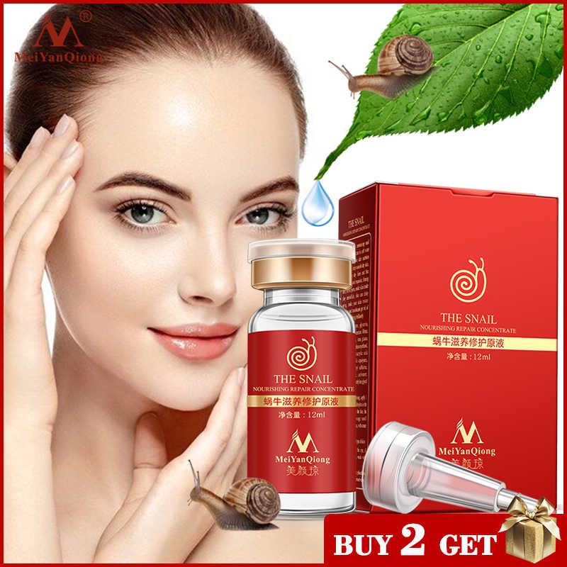 Alta qualidade snail100 % essência ácido hialurónico clareamento líquido ponto essência encolher poros ampola anti-acne essência regenerativa