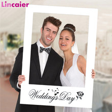 White Paper Photo Frame Rustic Wedding Decoration Mariage Vintage DIY Party Events Supplies Mr Mrs Decor for Home(China)