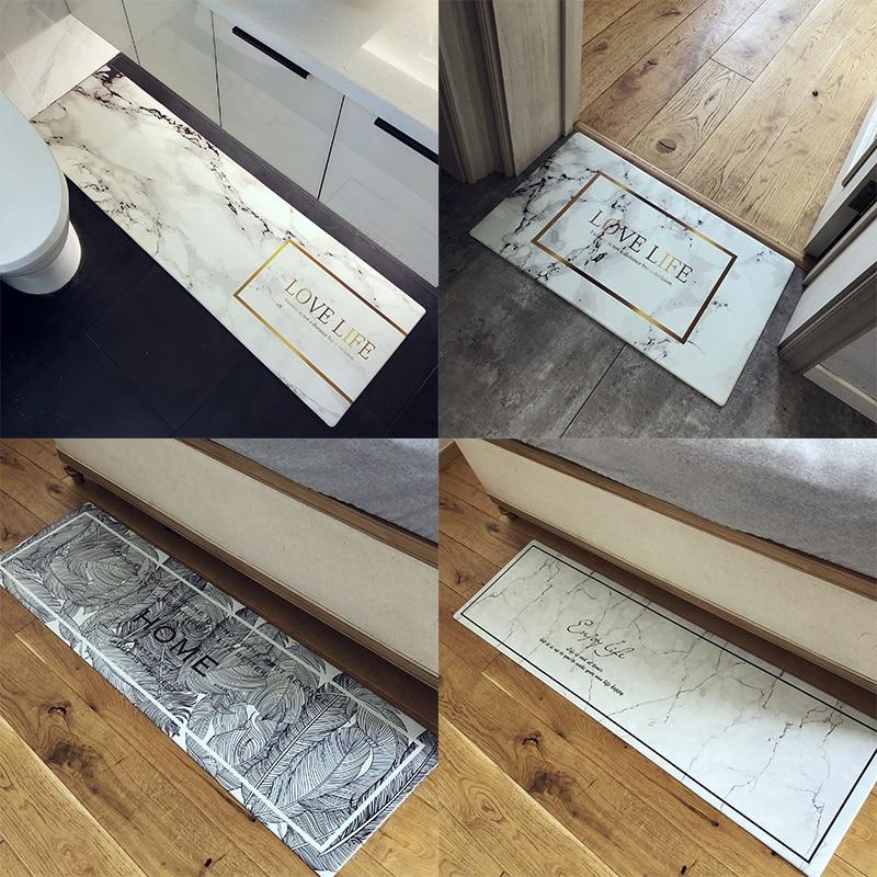 Waterproof Non Slip PVC Kitchen Mat Leatherwear Oil Proof Floor Mat Carpet Hallway Door Mat More Function Land Pad Tatami Tapete