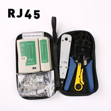 LUBAN Network Ethernet Cable Tester RJ45 Kit RJ45 Crimper Crimping Tool Punch Down RJ11 Cat5 Cat6 Wire Line Detector 8P8C RJ4 luban network ethernet cable tester rj45 kit rj45 crimper crimping tool punch down rj11 cat5 cat6 wire line detector 8p8c rj45