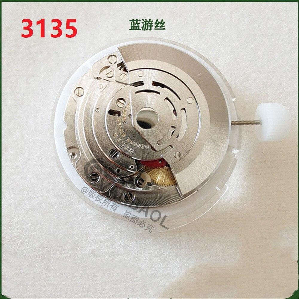 China RLX 3135 movement blue balance clone automatic mechanical movement men watch movement