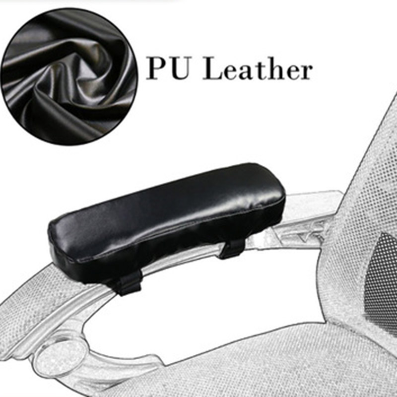 Wheel Chair Armrest Pad Cover Elbow Pain Relief Cushion Memory Foam PU Leather Office JDH99