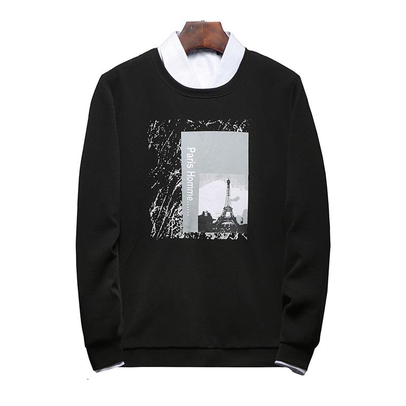 Black Hoodies Fashion Print Hoodies Men's Clothes Winter Sweatshirts Men Hip Hop Streetwear Solid Man Hoody 4XL Brand Clothing