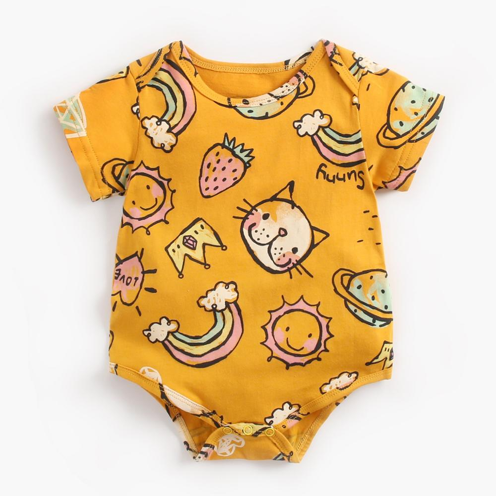 Baby boy girl rompers newborn infant romper Baby Girl One-pieces short sleeves Jumpsuits Children Cotton Clothes Outfits
