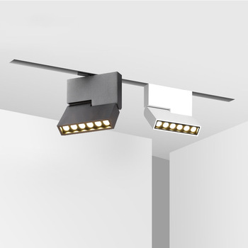 6W 12W Adjustable Magnetic LED Track Lights Spotlight Rotatable Track Light  Clothes Store Indoor Lighting Fixture