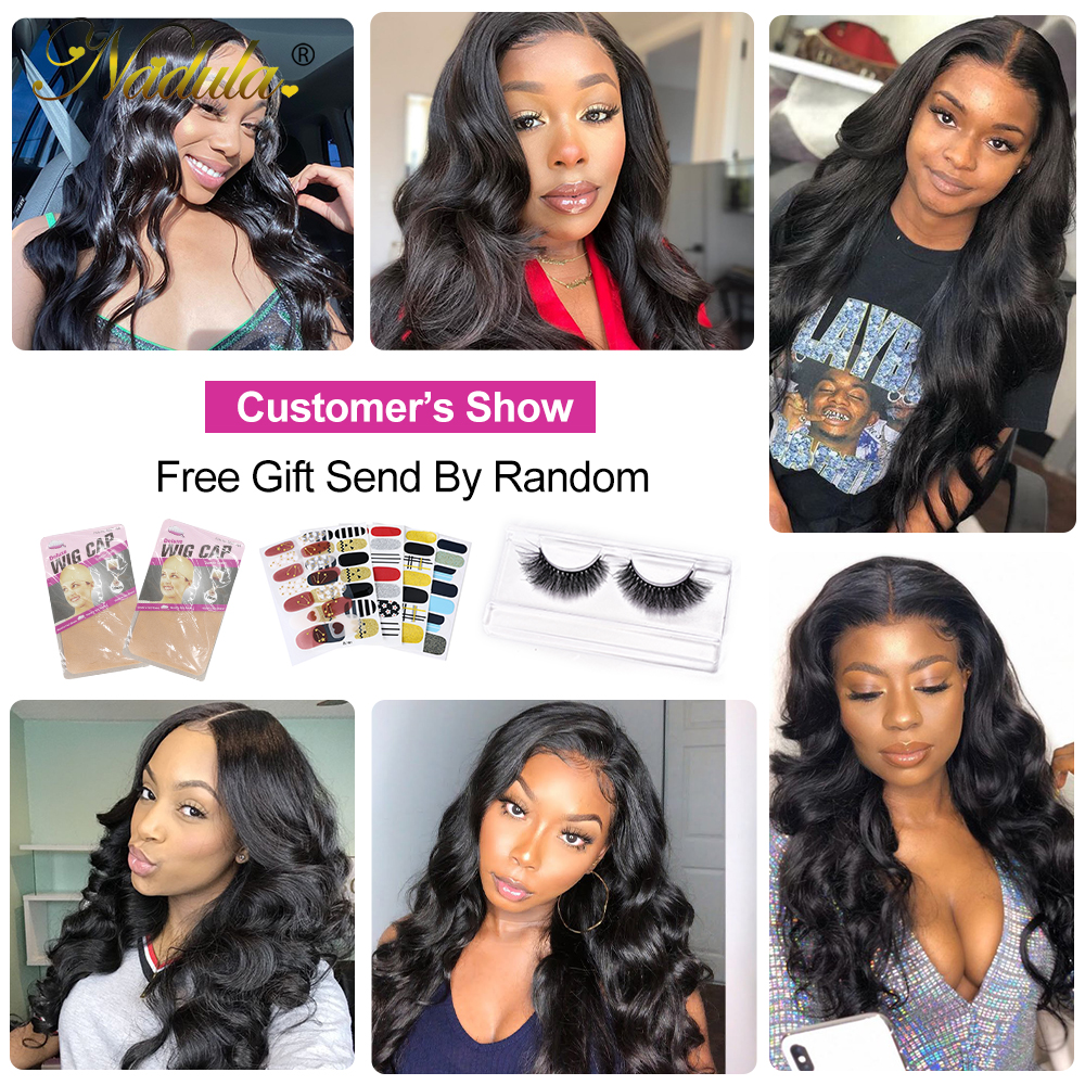 Nadula Hair 5x5 HD Lace Closure With Bundles  Body Wave Bundles With Closure  Transparent Frontal and Bundles 6