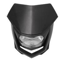 12v universal motocicleta bicicleta da sujeira farol de halo cabeça luz lâmpada da bicicleta sujeira farol enduro para crf xr wrf yzf drz klx Ym-004