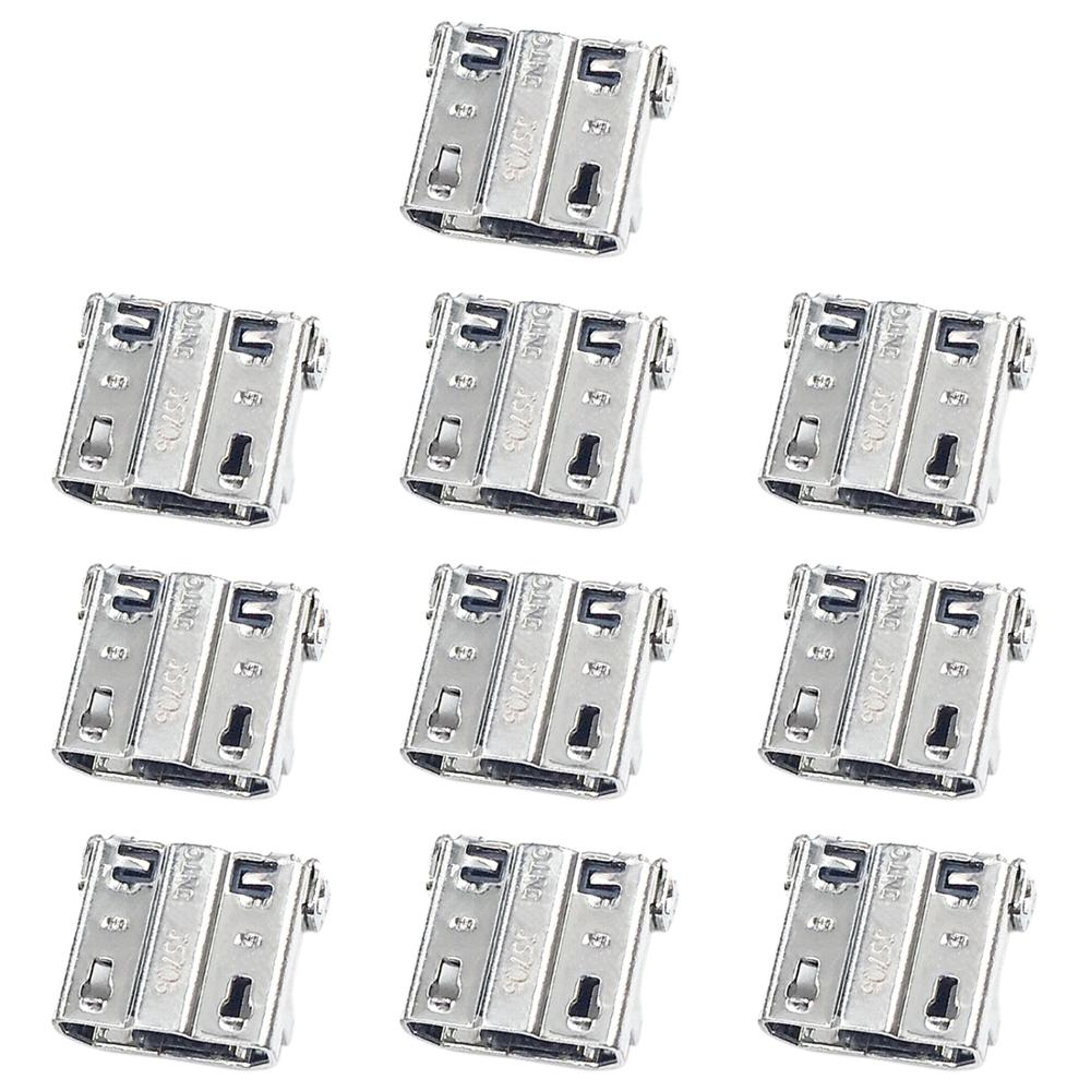 iPartsBuy 10 PCS Charging Port Connector for Galaxy S4 / <font><b>E250S</b></font> / E250K / E300S / E300L / S4 Zoom SM-C101 image