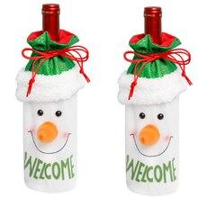 Holiday supplies Christmas Wine Bottle Sleeve Santa Claus/El