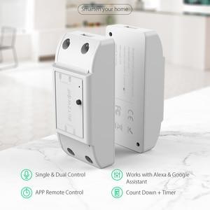 Image 2 - BlitzWolf BW SS4 Grund 2200W 10A 1/2 Weg WIFI DIY Smart Home Schalter Modul Fernbedienung Buchse Arbeit mit Google assistent