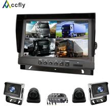 Rear-View-Camera Monitor Truck Parking 360-Degree Screen-Backup Reversing 9inch