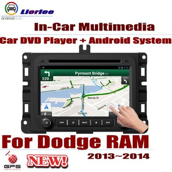 For Dodge RAM 2013~2014 Car Android GPS Navigation DVD Player Radio Stereo AMP BT USB SD AUX WIFI HD Screen Multimedia