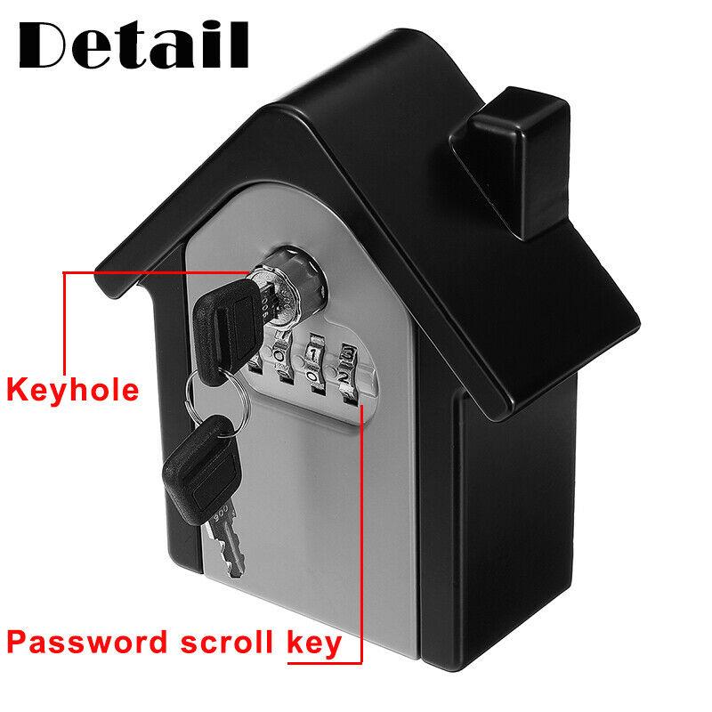 New 4 Digit Safe Keys Lock Storage Box Wall Mount Holder Combination Case Organizer