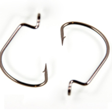 2# 0/1# Crank Hook Fishing Carbon Steel Wide Offset Fishhook For Worm Lure Luya Bait Barbed Carp Hooks