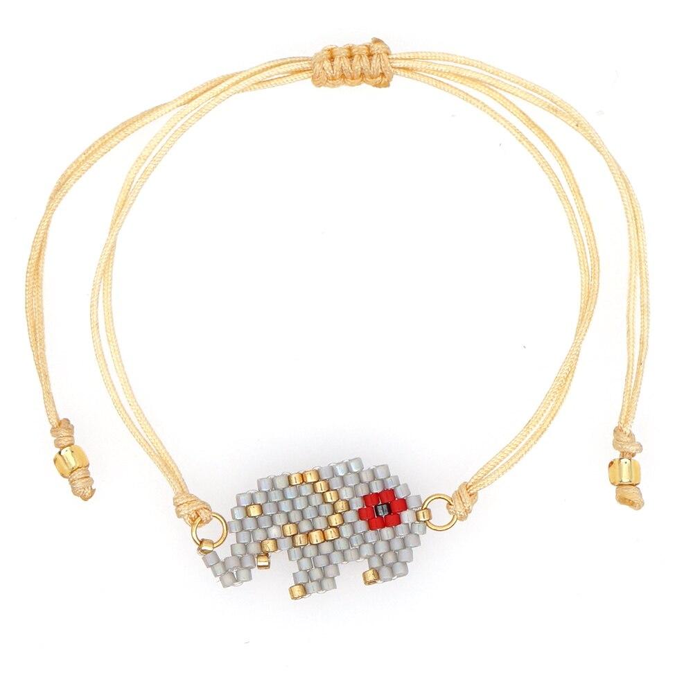 Go2boho 2020 MIYUKI Bracelet Women Elephant Pulseras Mujer Moda 2019 Armband Gift Jewelry Children Animal Bracelets Handmade DIY