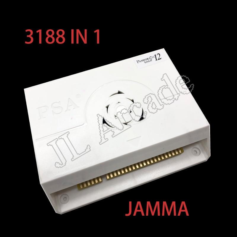 3188 In 1 Pandora Saga box 12 Arcade Version Jamma Board Arcade Cabinet Joystick Machine Coin operated HD video 3D game HDMI VGA(China)