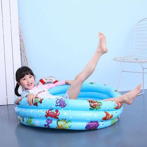 Baby inflatable pool cartoon p