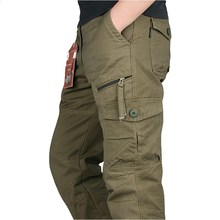 New 2019 Men Cargo Pants Multi Pockets Military Tactical
