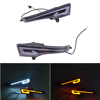 car flashing led drl for kia optima k5 2013 2014 2015 fog lamp cover daytime running lights with turn yellow signal 2Pcs Auto DRL 12V Front Bumper LED Daytime Running Light Turn Signal Fog Lamp For Nissan Altima Teana 2013 2014 2015
