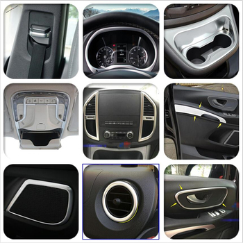 Yimaautotrims Matte Interior Refit Kit For Mercedes-Benz Vito W447 2014 - 2019 Dashboard / Cup Holder / Air / Handle Cover Trim 1