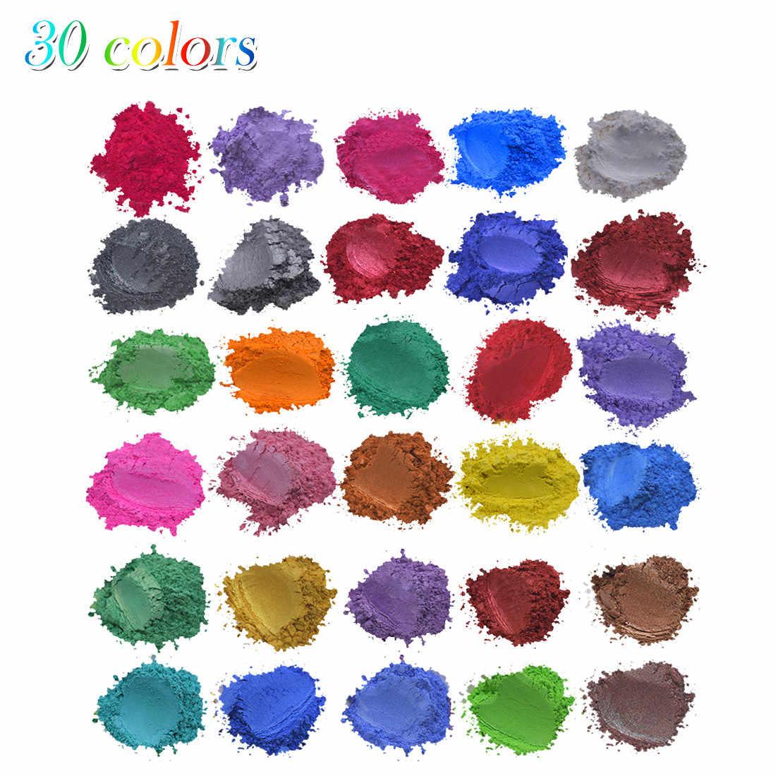 24x Mika tozu Epoksi Reçine Metalik 24 renk x5g Sabun Renk Seti Renk pigment tozu Mika Metalik Boya Yüksek Kaliteli Boyalar