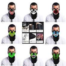 Festival Party LED Masks Sound Controlled Luminescence Terror whosesale