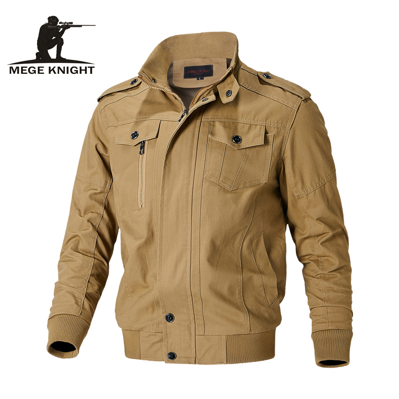Mege Tactical Military Jacket Coat Cotton Working Army Men's Pilot Jacket Air Force Autumn Casual Cargo Jaqueta Dropshipping