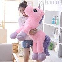 85cm/100cm Ponies Unicorn Plush Toys Giant Stuffed Animal Horse Toy Soft Unicornio Peluche Doll Gift Children