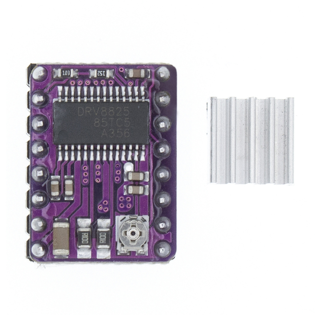 50 قطعة طابعة ثلاثية الأبعاد StepStick DRV8825 محرك متدرج محرك الناقل Reprap 4 layer PCB المنحدرات
