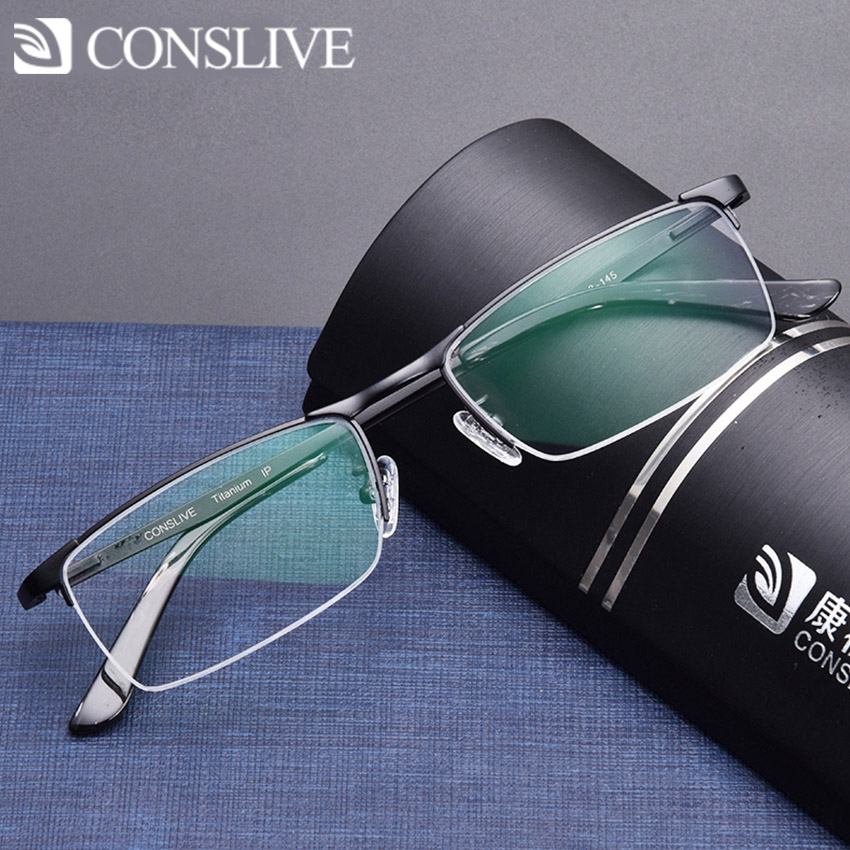 Titanium Optical Eyeglasses Frame for Men Titanium Dioptric Glasses for Sight Man Spectacles Frame V8920 image