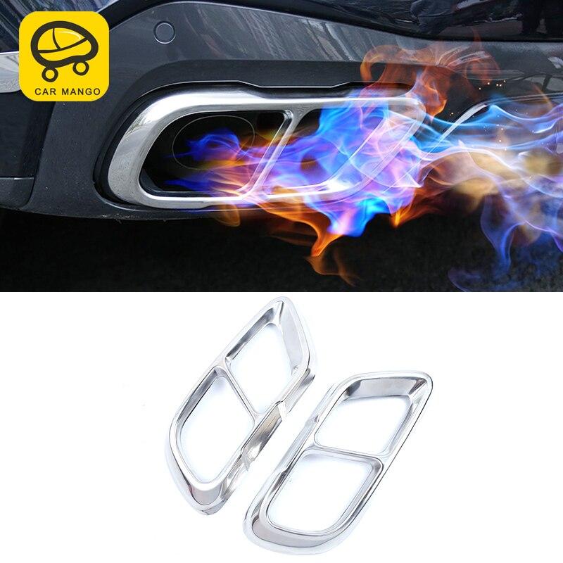 CarManaGo pour BMW X5 G05 2019 voiture style queue tuyaux d'échappement tuyau silencieux cadre couverture garniture autocollant accessoires extérieurs