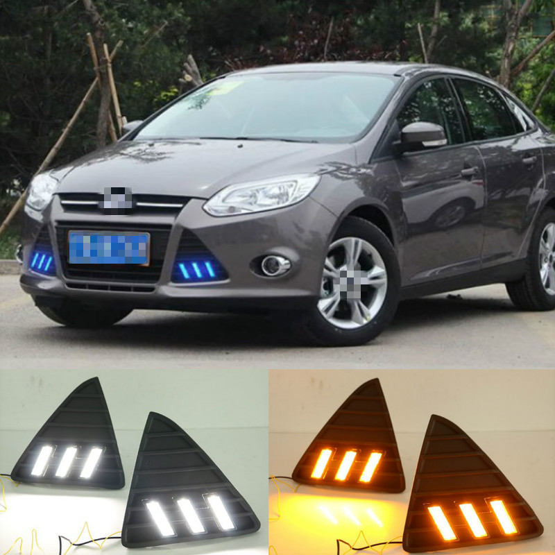 For <font><b>Ford</b></font> <font><b>Focus</b></font> 3 <font><b>LED</b></font> headlight for <font><b>ford</b></font> <font><b>focus</b></font> MK3 <font><b>LED</b></font> light 2012~<font><b>2014</b></font> <font><b>LED</b></font> Daytime Running Lights DRL fog lights Cover headlights image